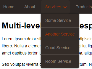 Multi-level Toggle Responsive Navigation Menu using Pure CSS - Top