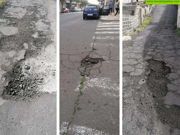 CC pide una actuación urgente ante el estado lamentable que presentan muchas calles de Los Llanos de Aridane