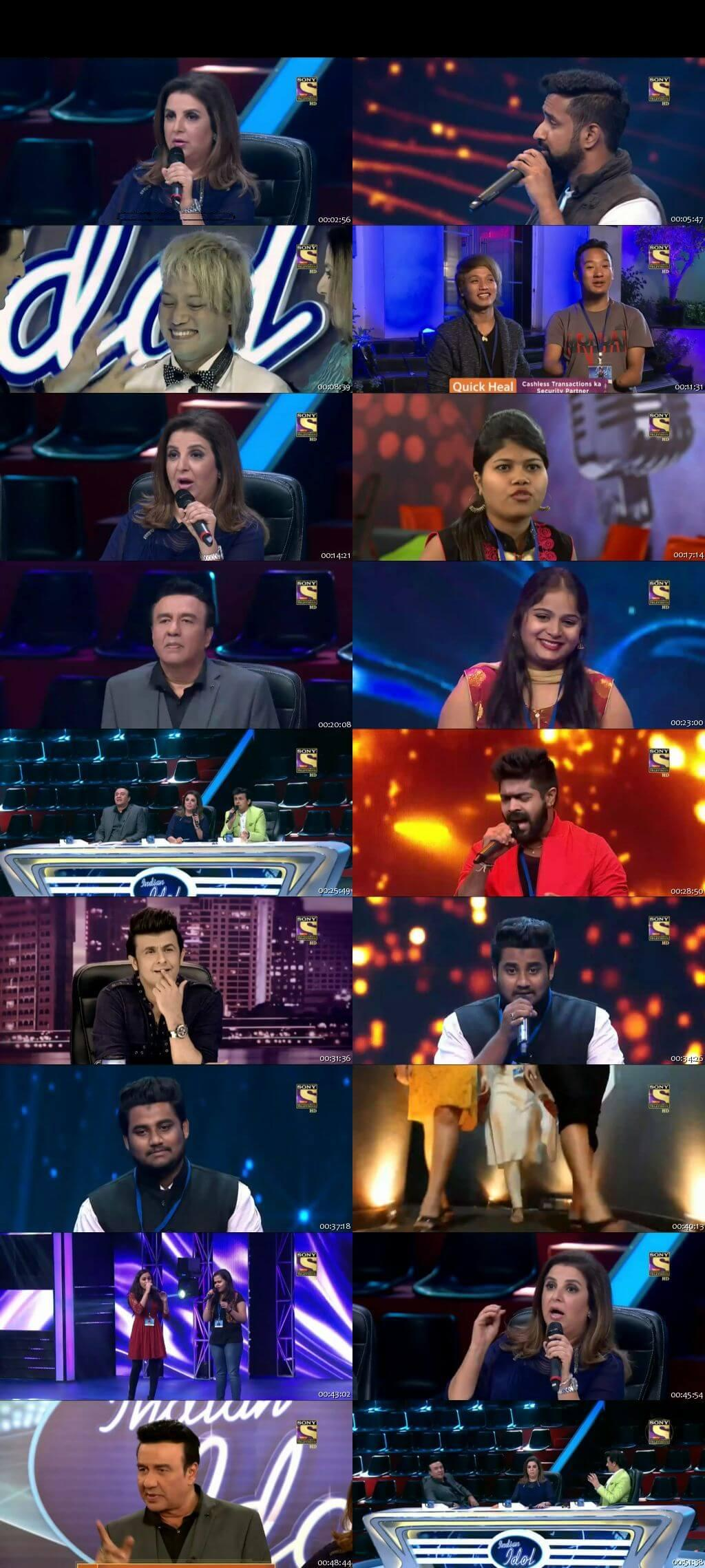 Screenshots Of Hindi Show Indian Idol 8th January 2016 Episode 06 300MB 480P HD