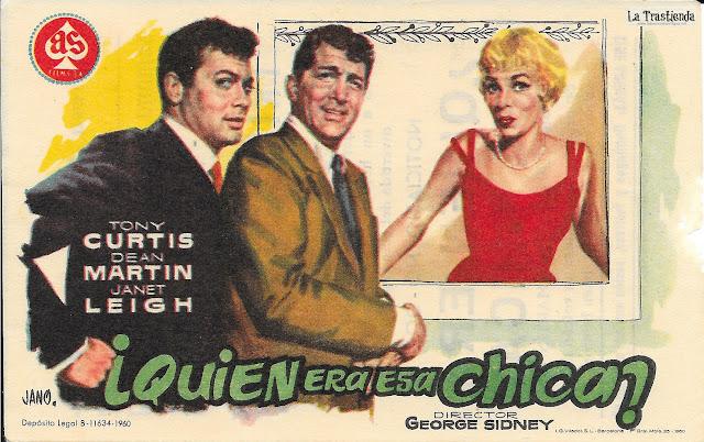 Quién era esa Chica - Programa de Cine - Tony Curtis - Dean Martin - Janet Leigh