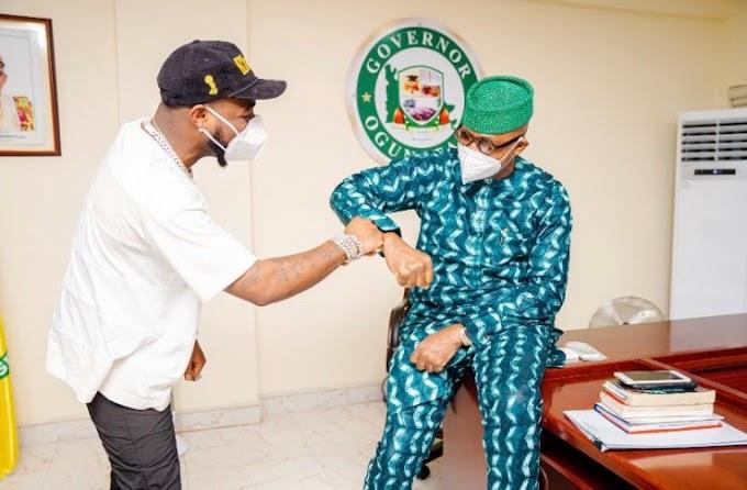 Davido visits Governor Dapo Abiodun in Ogun [Photos]