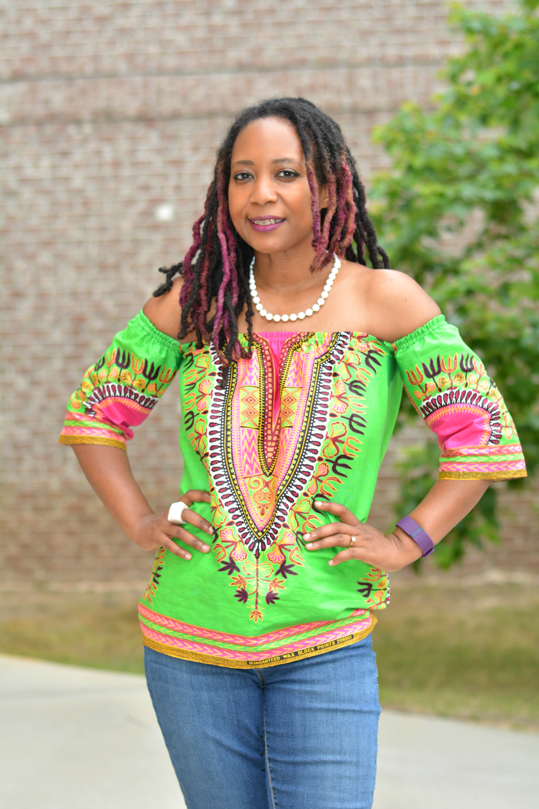 dashiki off the shoulder top