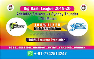 Dream 11 Team Prediction Thunder vs Adelaide 17th Match BBL T20 Captain & Vice Captain