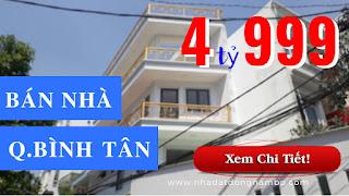 Bán nhà hẻm 759 Hương Lộ 2 phường Bình Trị Đông A quận Bình Tân