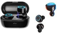 pTron Bassbuds in-Ear True Wireless Bluetooth Headphones (TWS) with Mic - (Black)
