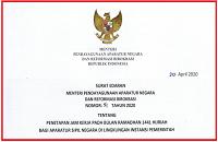 Penetapan Jam Kerja Pada Bulan Ramadhan 2020 Menurut SE MENPAN RB Nomor 51 Tahun 2020