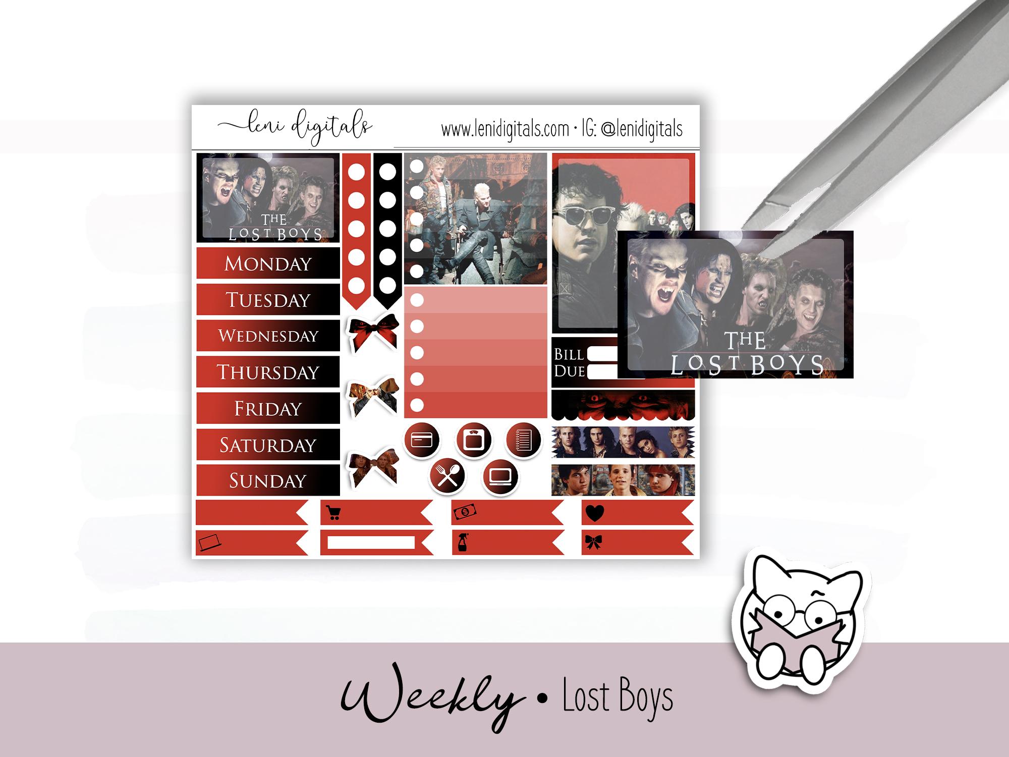 The Lost Boys digital planner kit by Leni Digitals