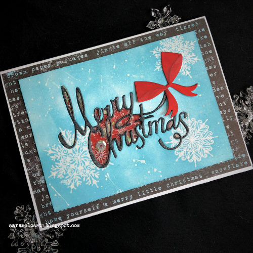 Sara Emily Barker https://sarascloset1.blogspot.com Christmas Ribbon Shaker Card 1