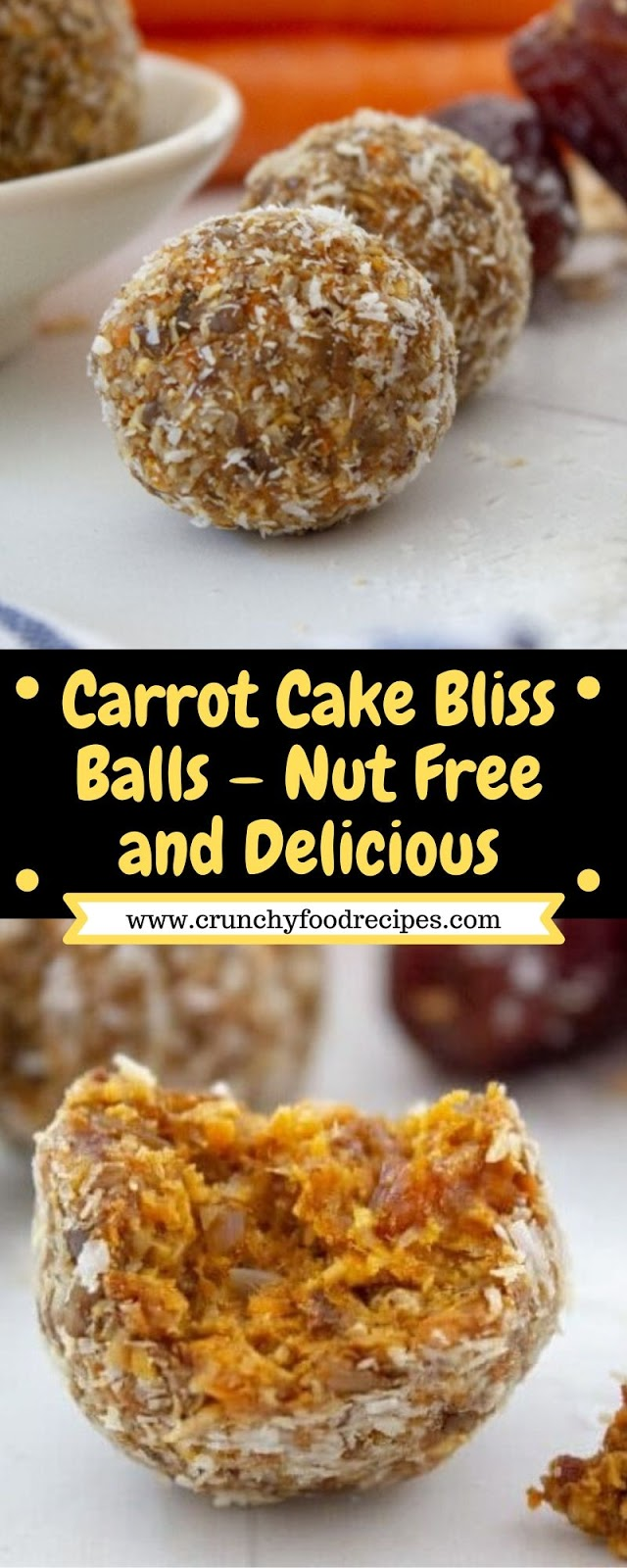 Carrot Cake Bliss Balls – Nut Free and Delicious