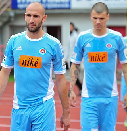 25d73cfe7b Slovan Bratislava  Uma camisa da Adidas com patrocínio da Nike ...