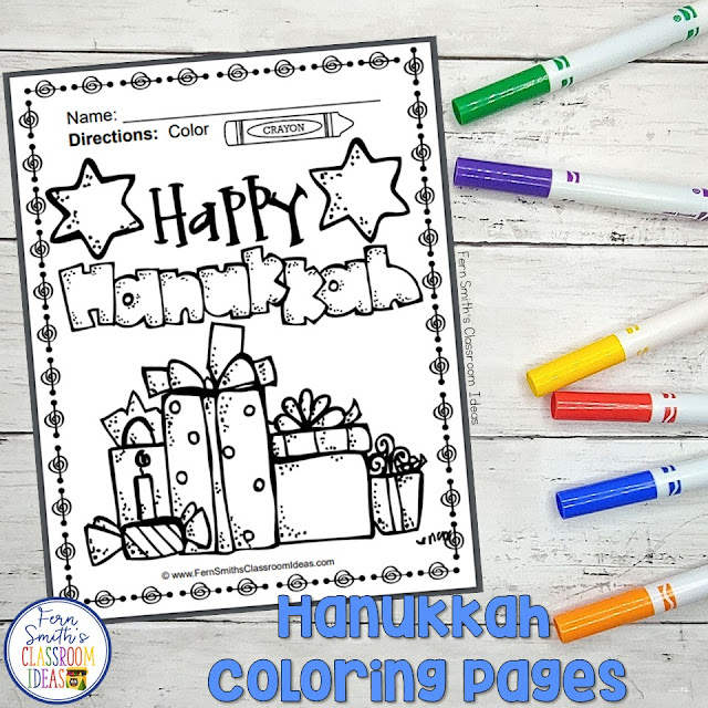 Hanukkah Coloring Pages - 18 Pages of Hanukkah Coloring Book Fun By Fern Smith's Classroom Ideas