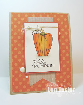 Hello Pumpkin card-designed by Lori Tecler/Inking Aloud-stamps from Verve Stamps