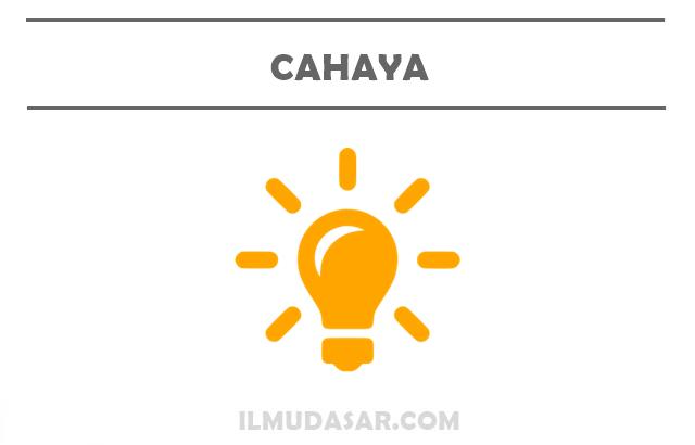 Pengertian Cahaya, Sumber Cahaya, Kecepatan Cahaya, Intensitas Cahaya