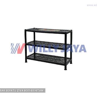 HOMMY - RAK SEPATU ZIVA 8001-S3 HITAM