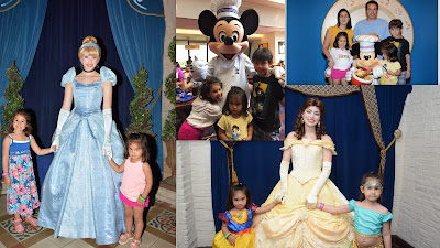 Disney World princess and Mickey Mouse Collage
