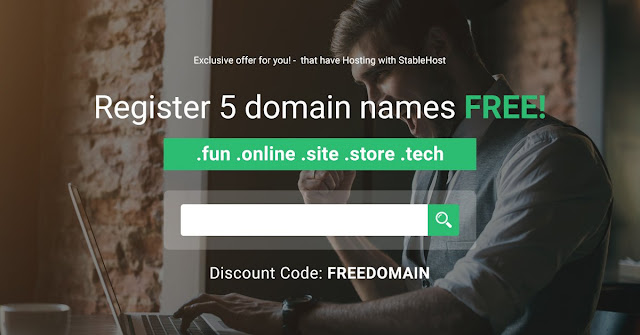 StableHost tặng Coupon Free 5 Domain
