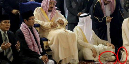 Jadi Perbincangan, Rombongan Raja Salman Masuk Istiqlal dan Shalat Pakai Sepatu