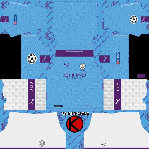Manchester City 2019 2020 Kit Dream League Soccer Kits Kuchalana