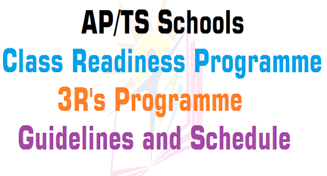 "AP Schools ""Class Readiness Programme-3R's Programme"" Guidelines, Schedule"
