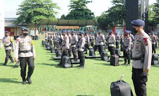 2 SSK Brimob Polda Sumut Disiagakan Pengamanan Pemungutan Suara Ulang Pilkada Labuhanbatu