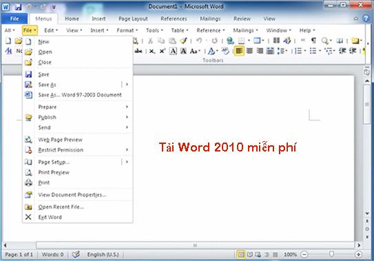Tải Word 2010 - Soạn thảo văn bản trên máy tính, laptop miễn phí d