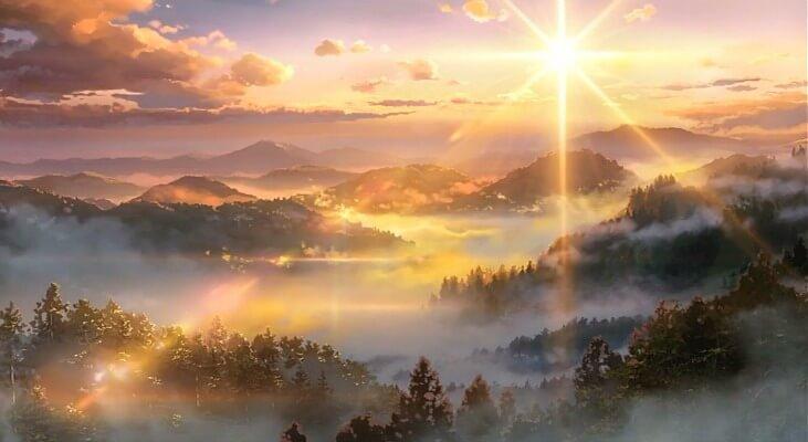 Misty valley in Kimi no Na wa