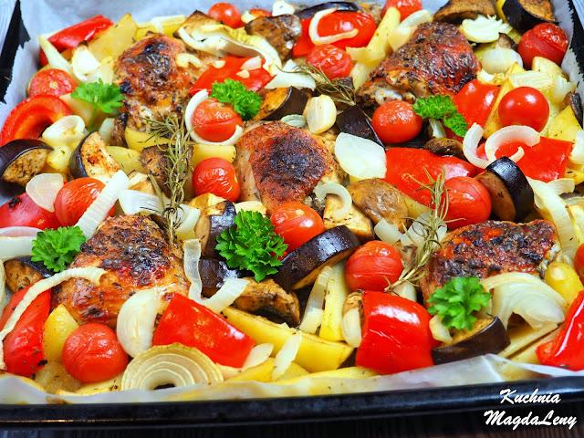Kefirowe udka z warzywami