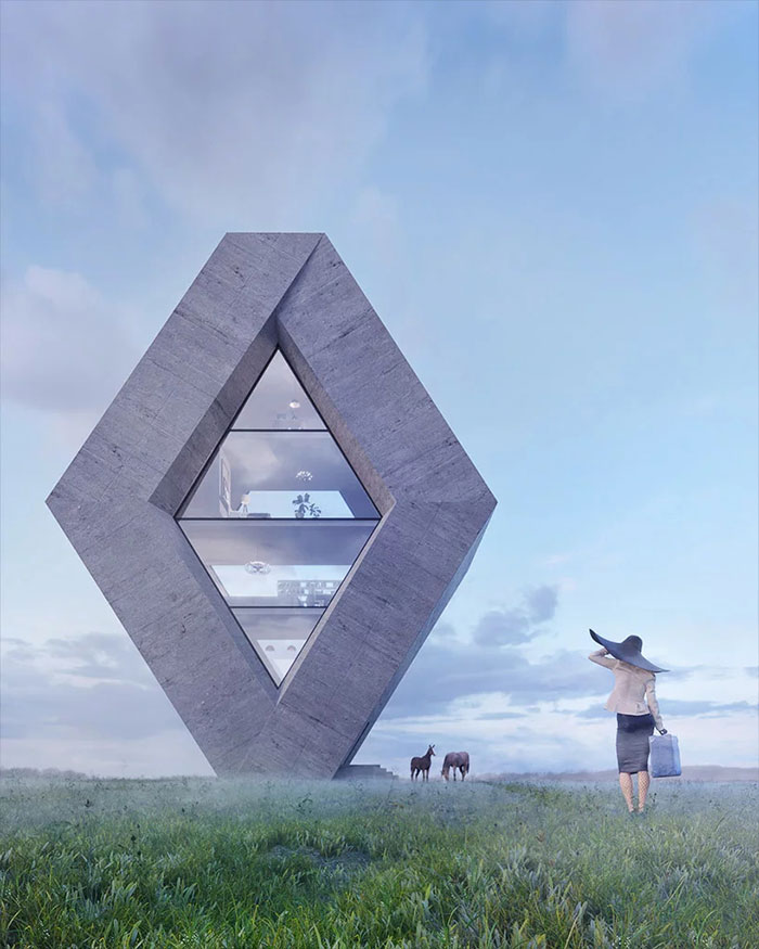 Stunning project turns logos into houses