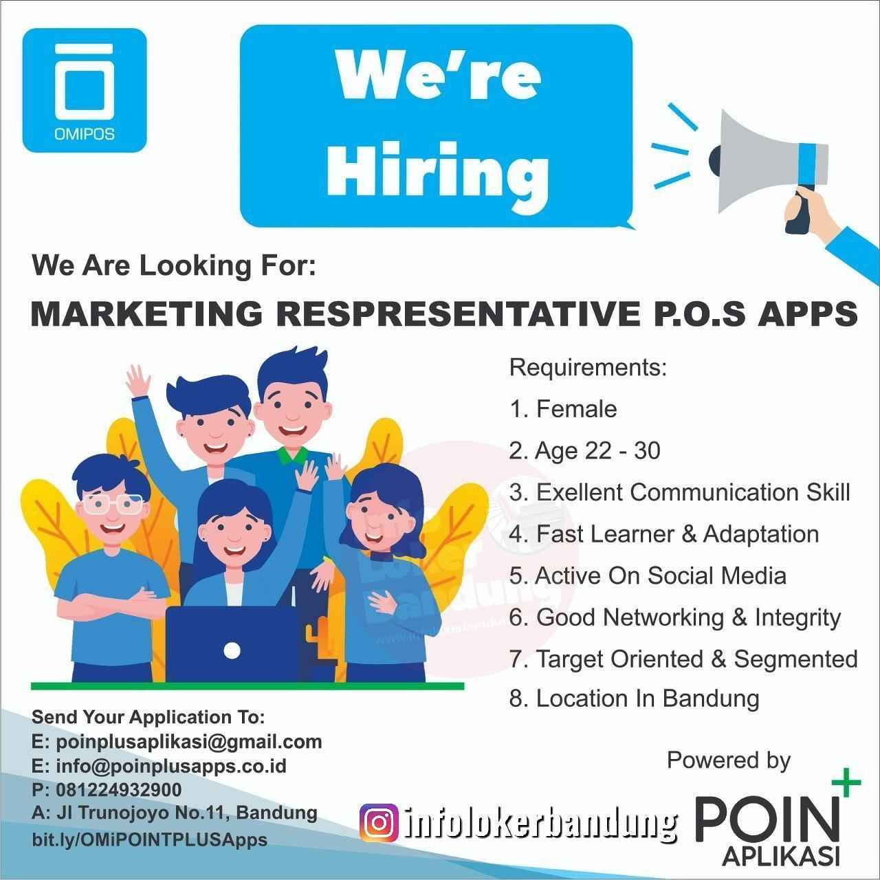 Lowongan Kerja Poin Plus Aplikasi Bandung Agustus 2019