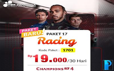 Harga & Cara Beli Paket Racing Nex Parabola