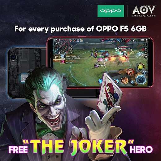 Oppo F5 6GB Philippines AOV Joker