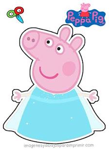 Peppa pig disfrazada de princesa Frozen