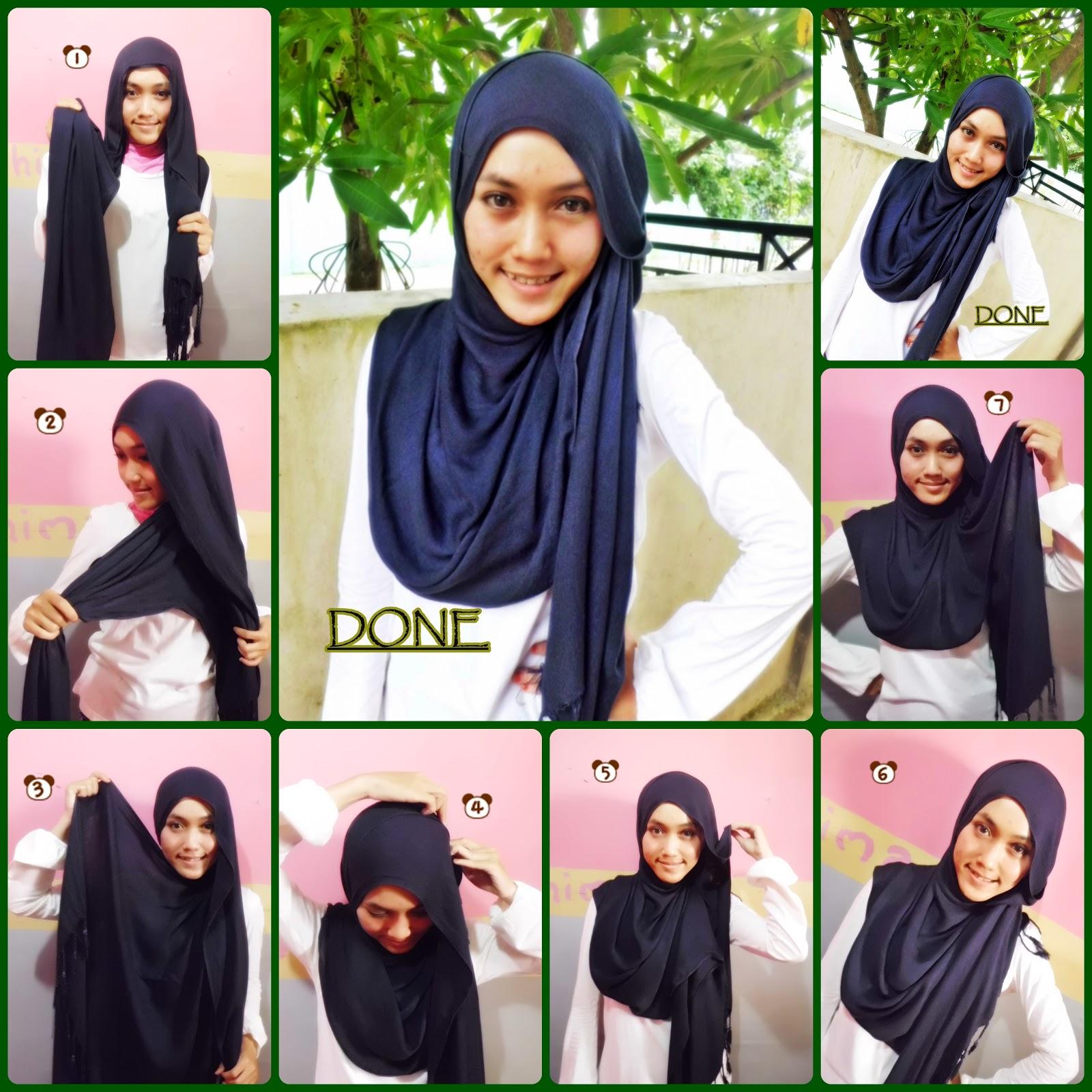 Tutorial Hijab Pashmina Tanpa Inner Ninja