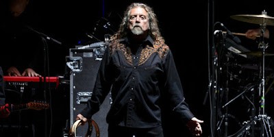 Robert Plant, chanteur de Led Zeppelin