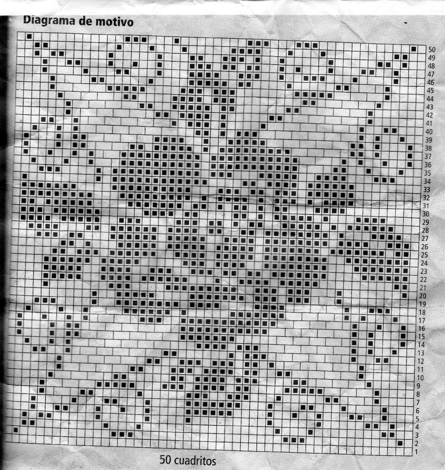 Mirtejidos artesanal centro de mesa cuadrado con for Mesa diseno grafico