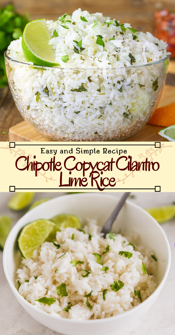 Chipotle Copycat Cilantro Lime Rice #dinnerrecipe #food #amazingrecipe #easyrecipe