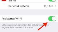 Cos'è Assistenza Wifi su iPhone e come disattivarlo