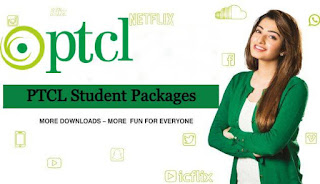 Student Internet Unlimited Packages of  PTCL
