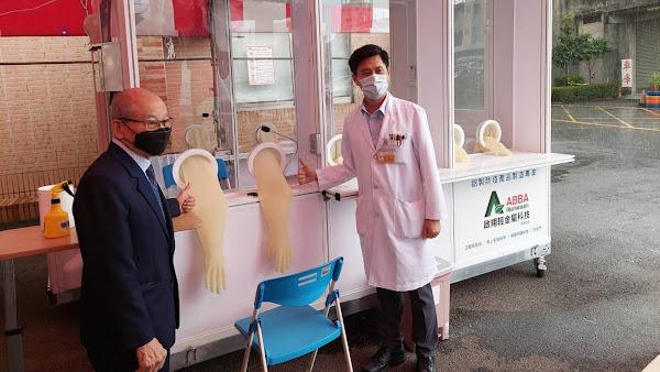 扶輪集愛捐正壓篩檢站 員生醫院守護醫護做好防疫