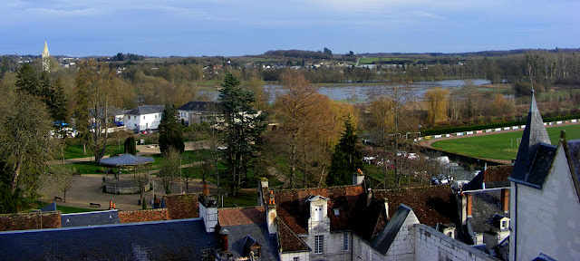 Flood meadows, Loches.  Indre et Loire, France. Photographed by Susan Walter. Tour the Loire Valley with a classic car and a private guide.