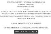 Perubahan KD Permendikbud Nomor 37 Tahun 2018