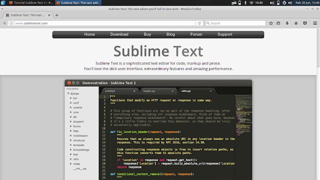Cara Install Sublime Text 3 dan Cara Penggunaannya - BeHangat.Net
