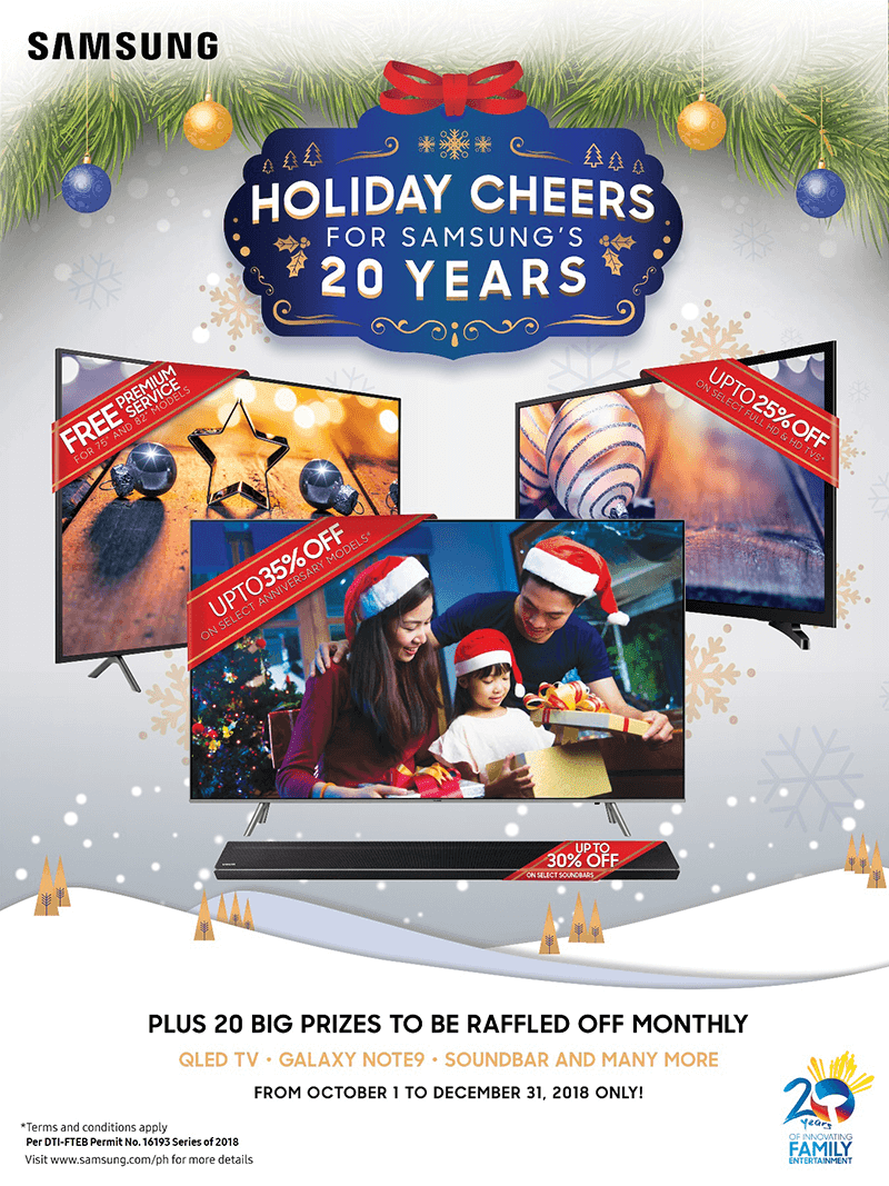 Holiday Cheers for Samsung's 20 years early Christmas promo announced
