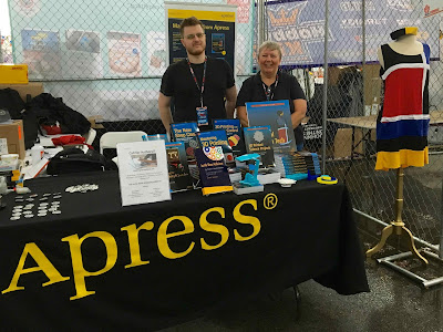 Joan and Rich at Apress booth