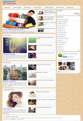 Truyện hay - Mẫu template blogspot dành cho website truyện, tin tức