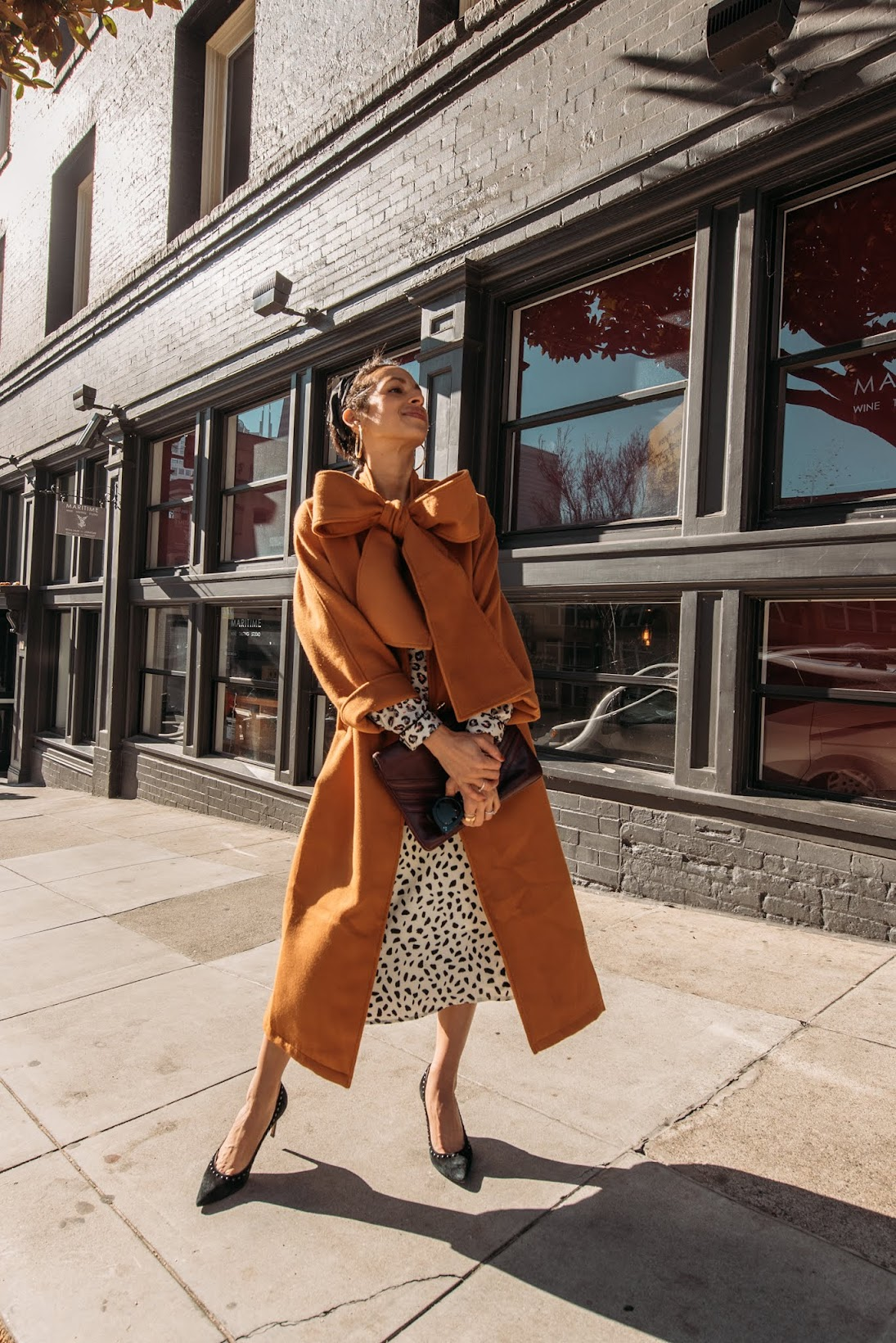 leopard looks, french girl style, San Francisco, City girl style, Parisian style, Camel coat