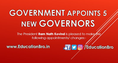 President Ram Nath Kovind appoints 5 new Governors, Check here who is new governors
