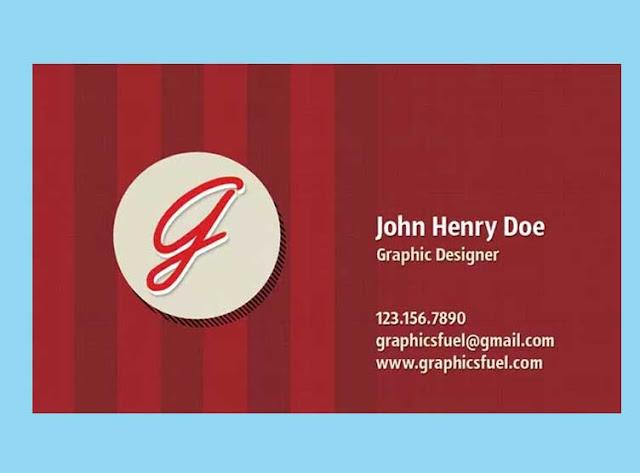 plantilla tarjeta  PSD de color rojo