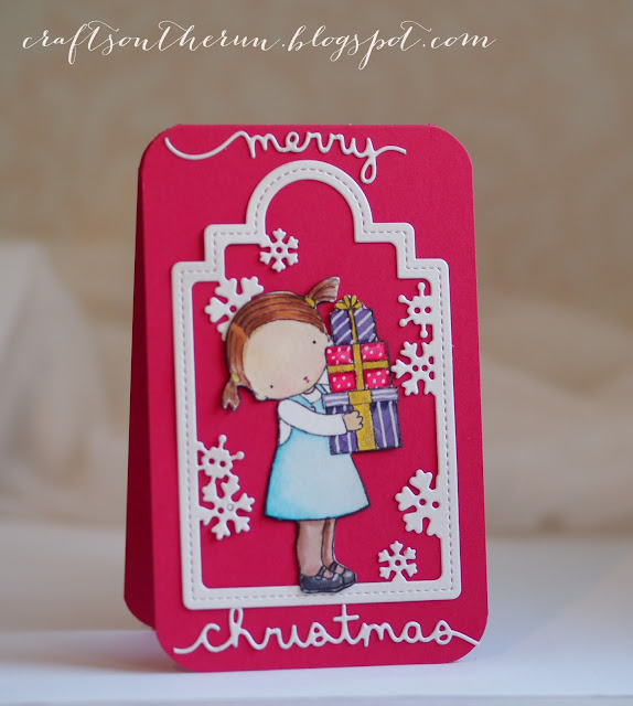 mftstamps, memory box,lawn fawn,christmas cards