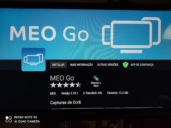Como instalar a aplicação Meo Go em Android TV?